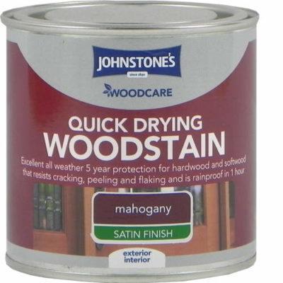 Johnstones Woodcare Quick Dry Woodstain Mahogany 250ml