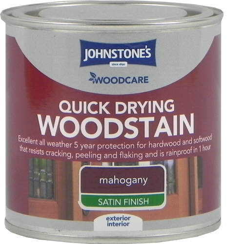 Johnstones Woodcare Quick Dry Woodstain Mahogany 250ml
