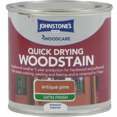 Johnstones Woodcare Quick Dry Woodstain Antique Pine 250ml