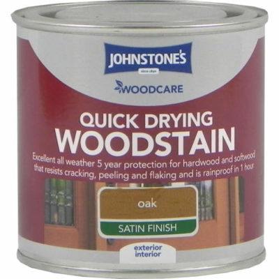 Johnstones Woodcare Quick Dry Woodstain Oak 250ml