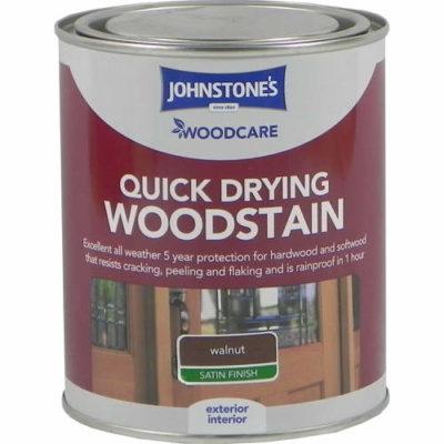 Johnstones Woodcare Quick Dry Woodstain Walnut 750ml