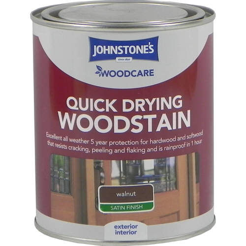 Johnstones Woodcare Quick Dry Woodstain Walnut 750ml