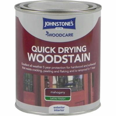 Johnstones Woodcare Quick Dry Woodstain Mahogany 750ml