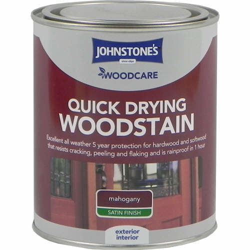 Johnstones Woodcare Quick Dry Woodstain Mahogany 750ml