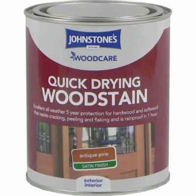 Johnstones Woodcare Quick Dry Woodstain Antique Pine 750ml
