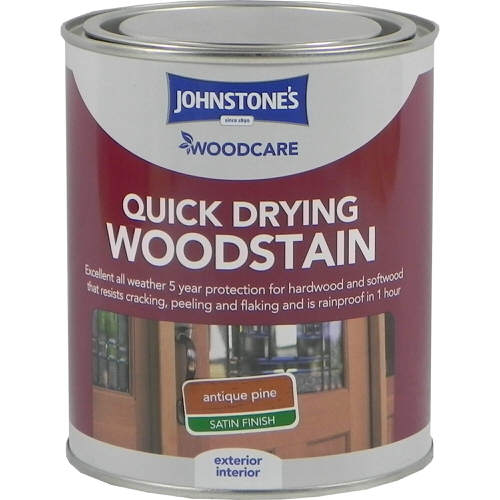 Johnstones Woodcare Quick Dry Woodstain Antique Pine 750ml