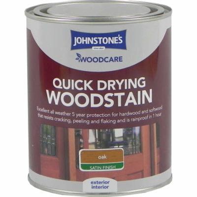 Johnstones Woodcare Quick Dry Woodstain Oak 750ml