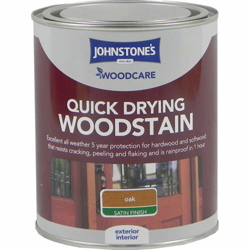 Johnstones Woodcare Quick Dry Woodstain Oak 750ml