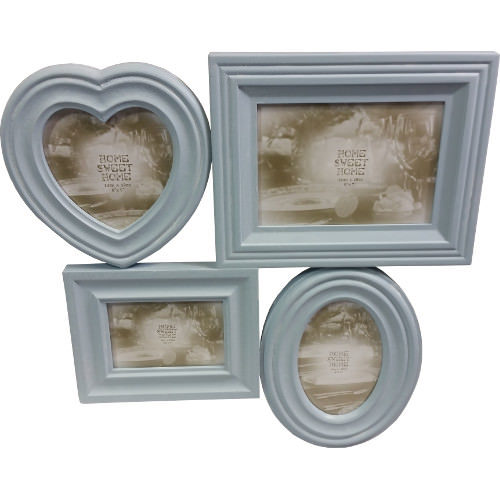 Collage Photo Frame Blue