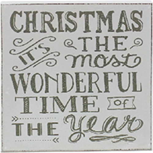 Christmas - Its The Most Wonderful Time Of The Year Plaque