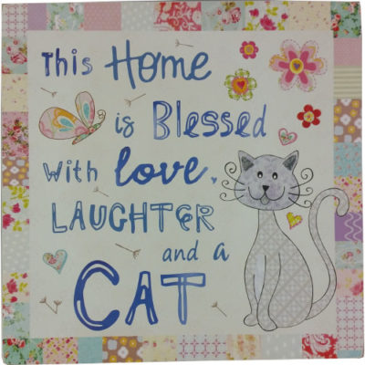 Cat Plaque - This Home Is Blessed With Love