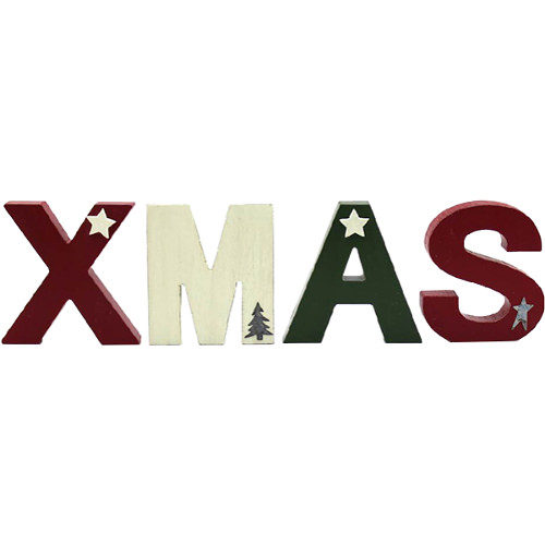 """Freestanding """"XMAS"""" Letters Sign"""