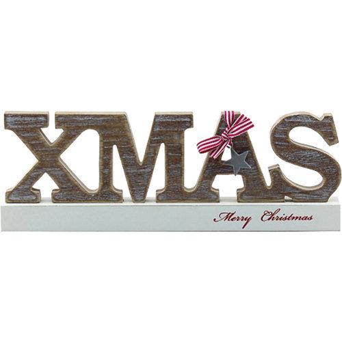 "Freestanding ""Xmas"" Merry Christmas Sign"