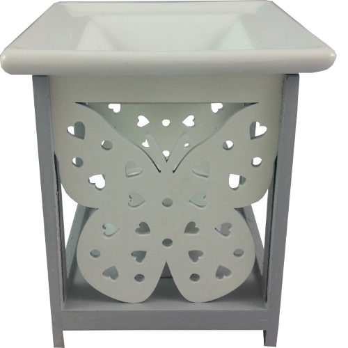 Butterfly Oil Burner Grey
