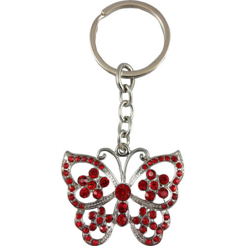 Butterfly Keyring Red