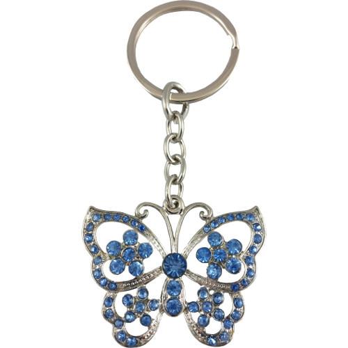 Butterfly Keyring Blue