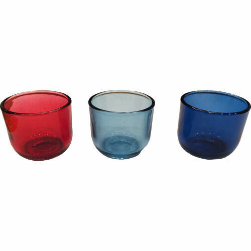 Glass Tealight Holders Pack of 3