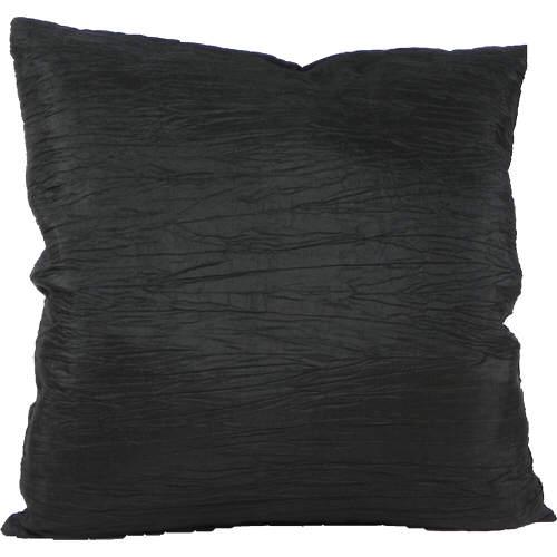 Cushion Cover Faux Taffeta Black