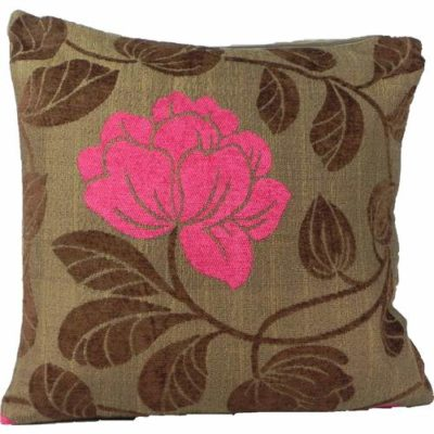 Cushion Cover Rose Chocolate and Pink