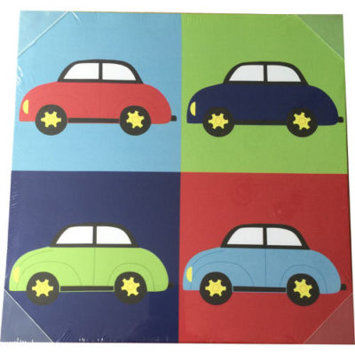 Boys Cars Canvas Picture Multi-Coloured