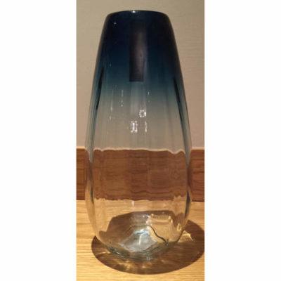 Glass Teardrop Vase Blue 34cm