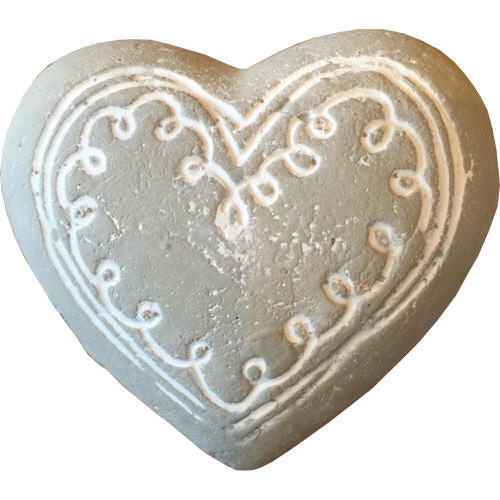 Pottery Heart in Grey