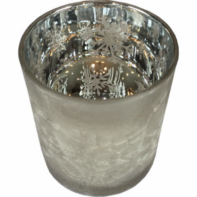 Christmas Snowflake Tealight Holder in Silver