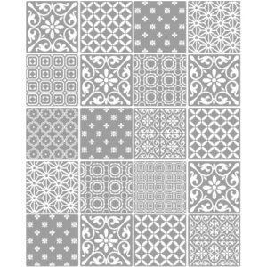 Ceramica Tiling Vinyl Wallpaper Spanish Tile Grey FD41464 Sample