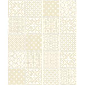 Ceramica Tiling Vinyl Wallpaper Spanish Tile Cream FD41467 Sample