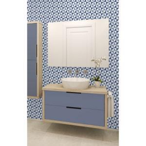 Ceramica Tiling Vinyl Wallpaper Geometric Glitter Blue FD41470 Sample