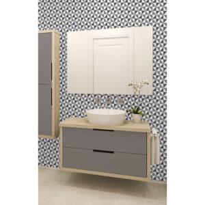 Ceramica Tiling Vinyl Wallpaper Geometric Glitter Black FD41471 Sample