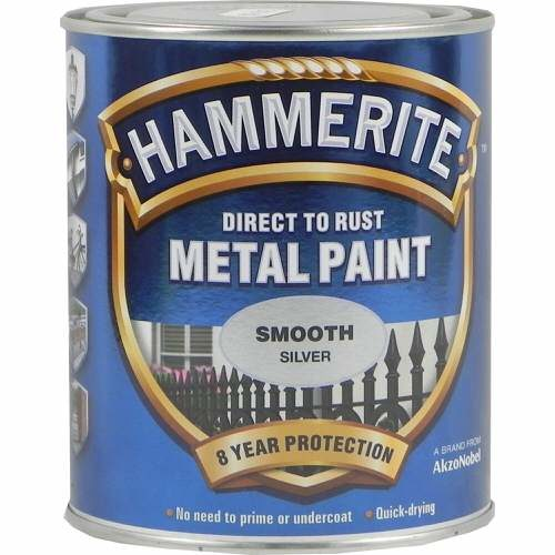 Hammerite Metal Paint Smooth Silver 750ml