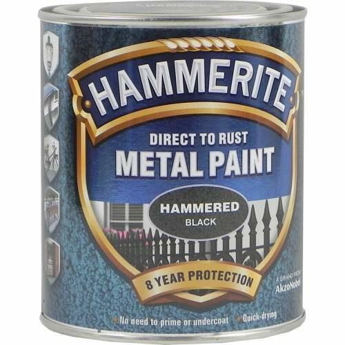 Hammerite Metal Paint Hammered Black 750ml