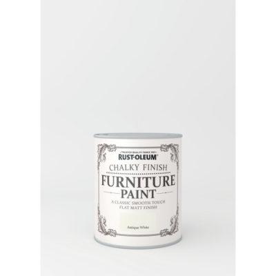 750ml Rustoleum Chalky Finish Furniture Paint Flat Matt Antique White
