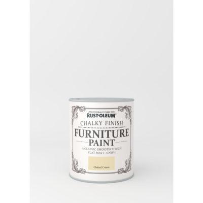 750ml Rustoleum Chalky Finish Furniture Paint Flat Matt Clotted Cream