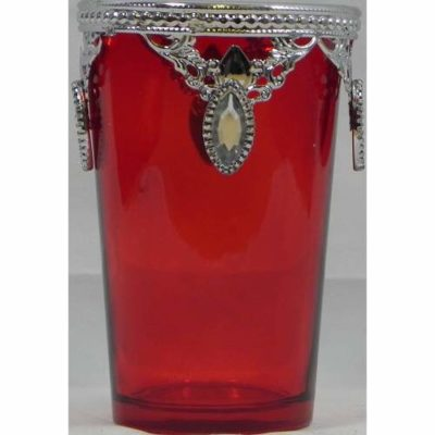 Ethnic Candle Holder Red