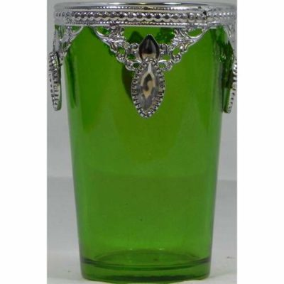 Ethnic Candle Holder Green