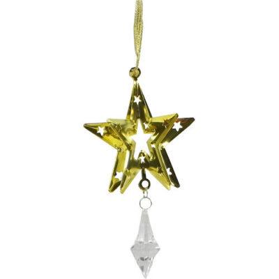 Christmas Tree Gold Hanging Star