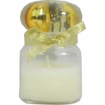 Christmas Chocolate Candle with Bauble Inlaid Stopper