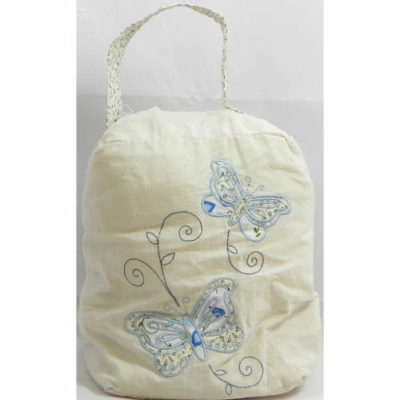 Doorstop with Butterfly Design in Blue