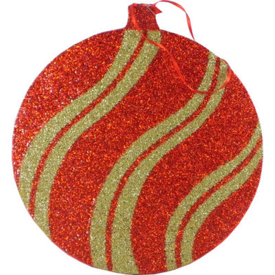 Christmas Decoration Large Hanging Foam Bauble Red & Gold