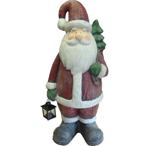 Ceramic Santa with Lantern 60cm