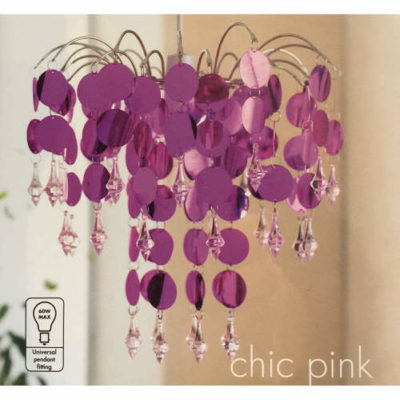 Urban Life Easy Fit Chandelier in Chic Pink