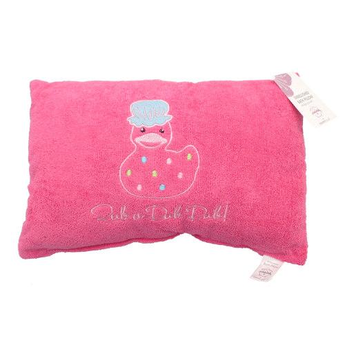 """Rub A Dub"" Embellished Bath Pillow in Pink"