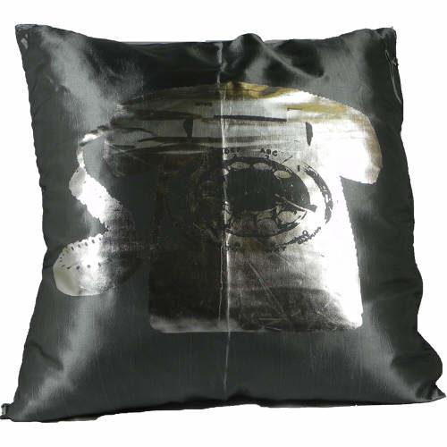 Cushion Covers Metallic Telephone Plum Pack of 2