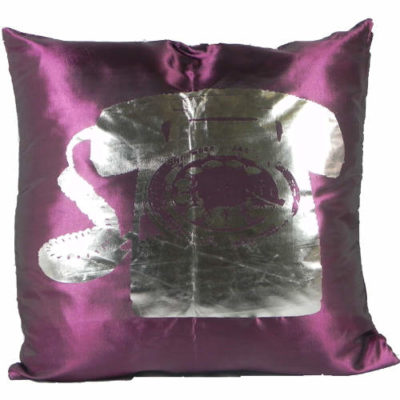 Cushion Covers Metallic Telephone Slate Pack of 2