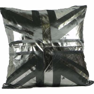 Cushion Covers Metallic Union Jack Slate Pack of 2