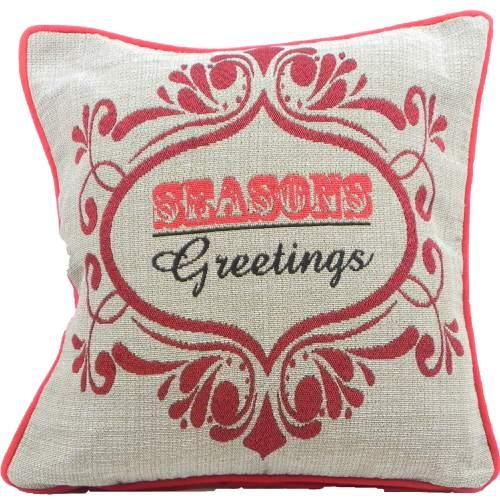 Christmas Cushion Cover Seasons Greeting Tapestry