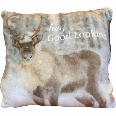 """Country Craft Filled Cushion Stag """"Hey Good Looking"""""""