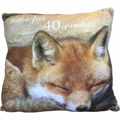 """Country Craft Filled Cushion Fox """"Time For 40 Winks"""""""